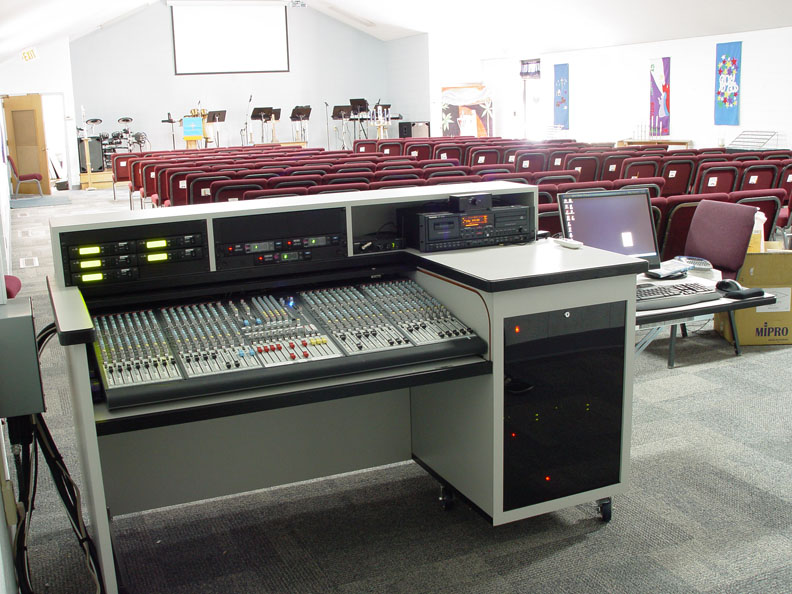 Sound Mixing Desk On Wheels
