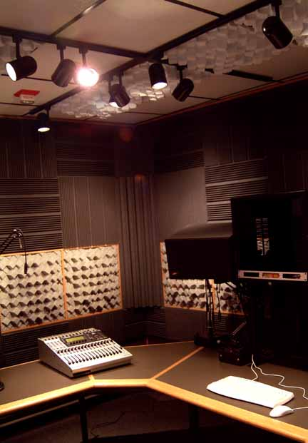 Acoustic Curtains For Studio Recording : Acoustic treatment wall